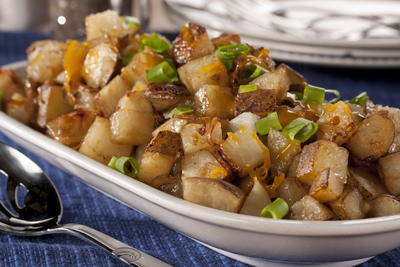 Cheesy Onion Potatoes