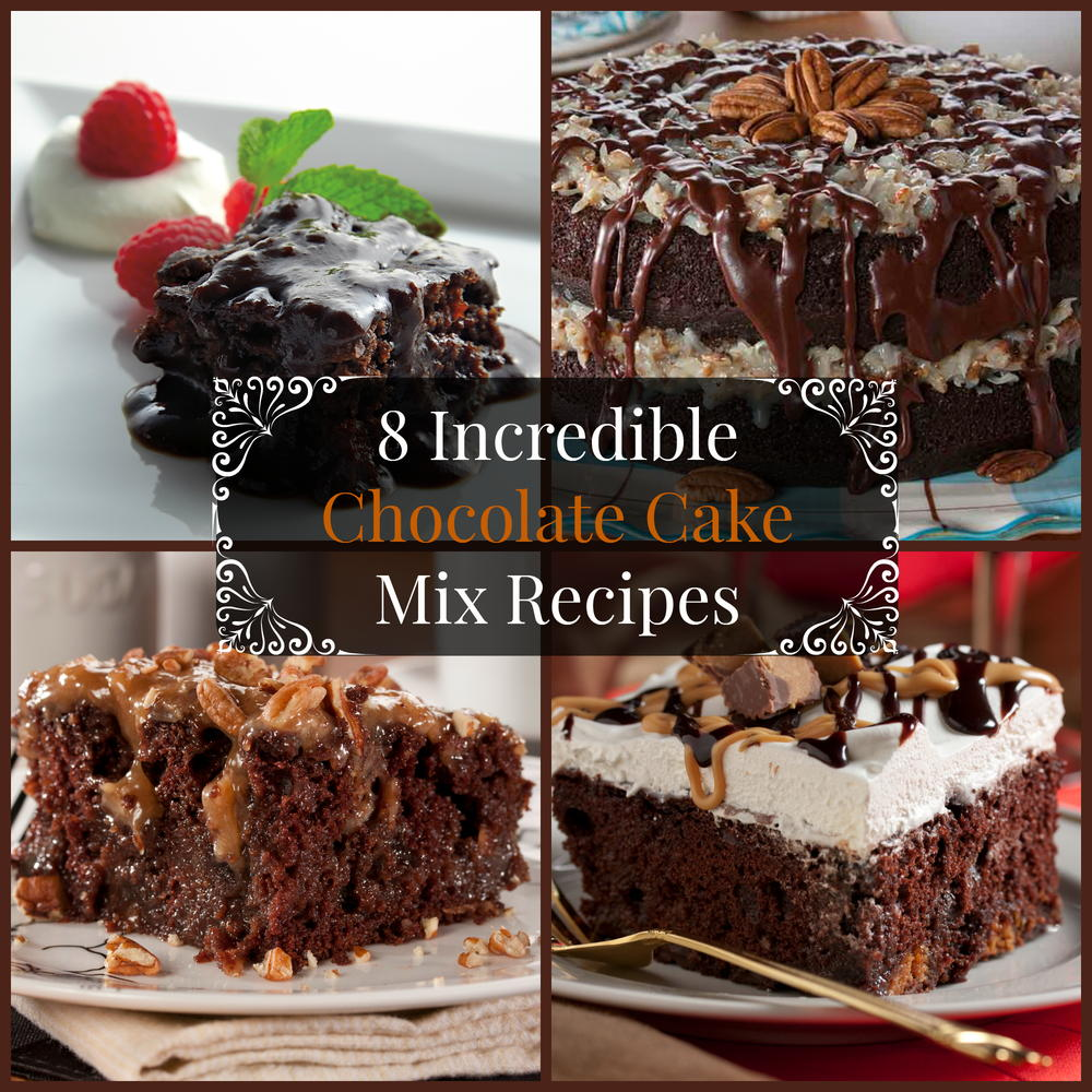 Recipe using german chocolate cake mix