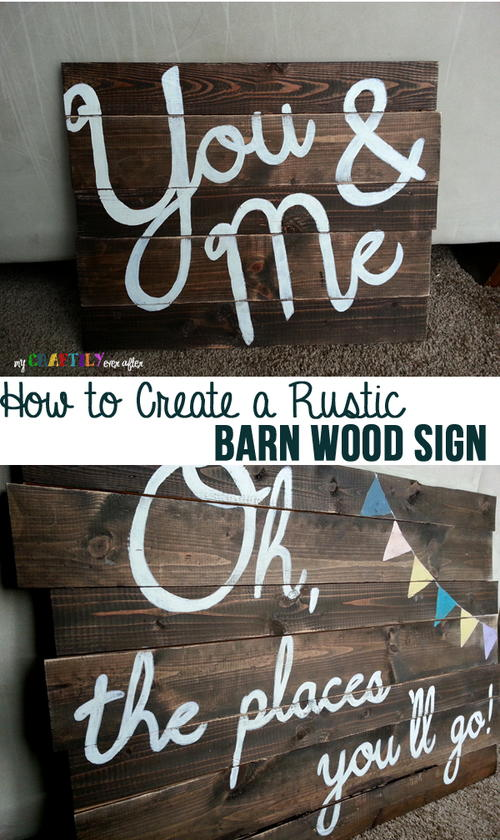 DIY Rustic Barn Wood Sign