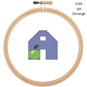 'A is for Apple' Cross Stitch Pattern
