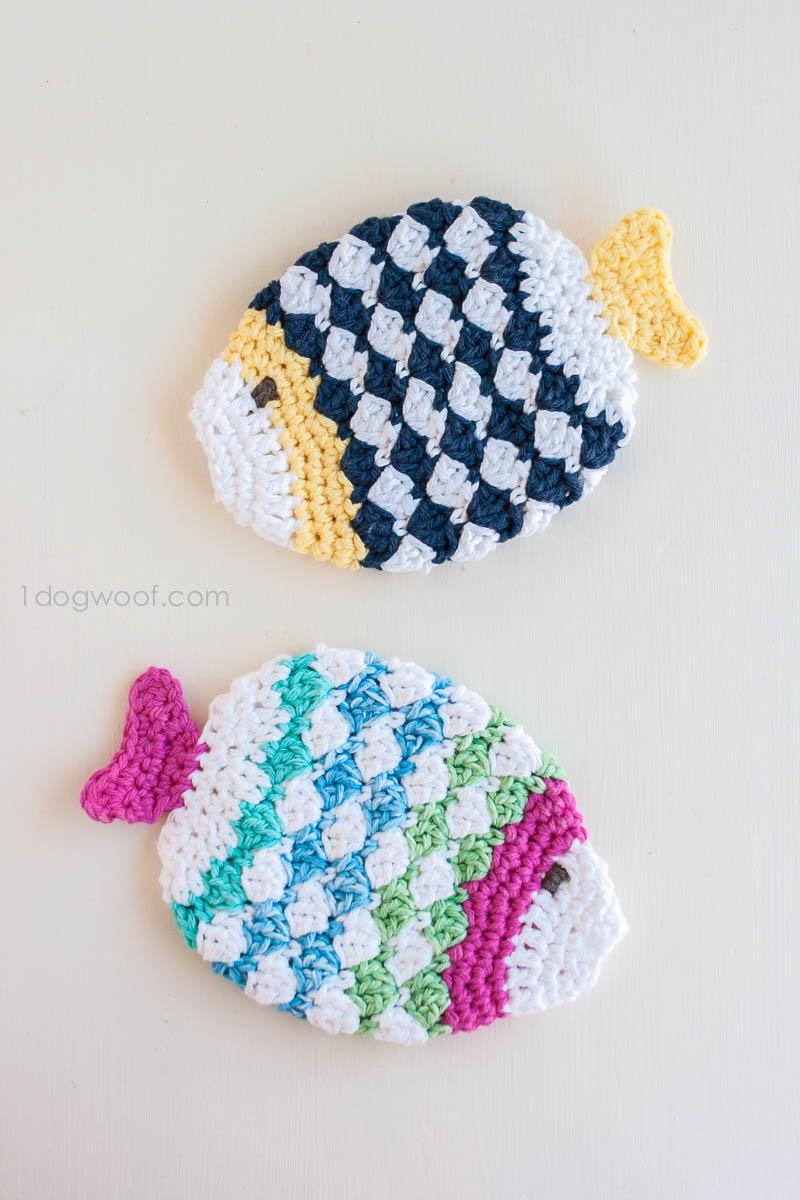 Fish Scrubbie Crochet Washcloths Allfreecrochet