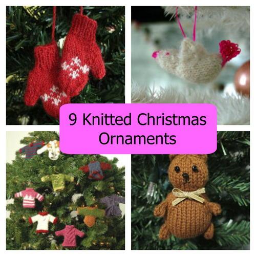 Mini Knitted Mittens Ornament AllFreeChristmasCrafts.com