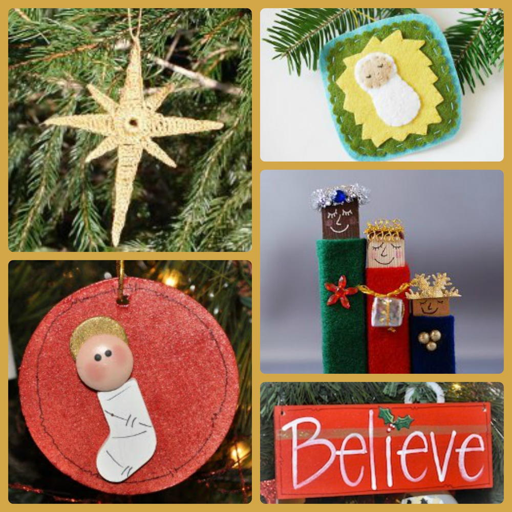Color Your Own Religious Christmas Ornaments: 25 Religious Christmas Decorating Ideas