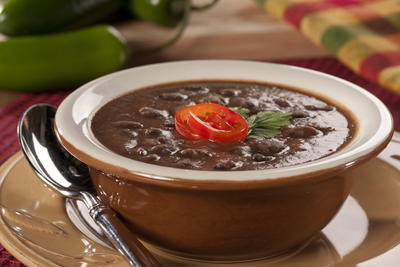 Spicy Black Bean Potato Soup