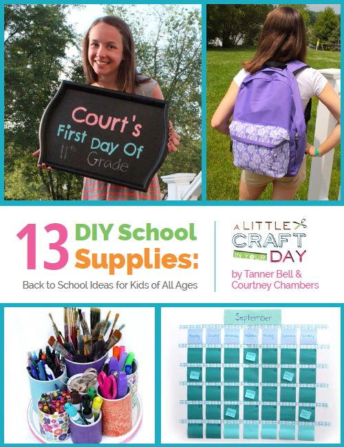 13 Diy School Supplies Back To School Ideas For Kids Of All Ages