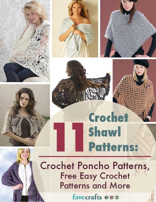 11 Crochet Shawl Patterns Crochet Poncho Patterns Free Easy