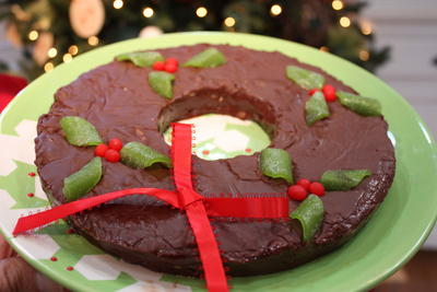 Chocolate Wreath Fudge