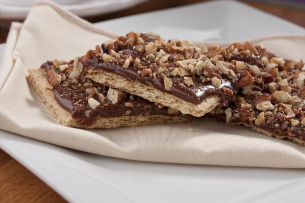 Chocolate-Caramel Pecan Squares   MrFood.com