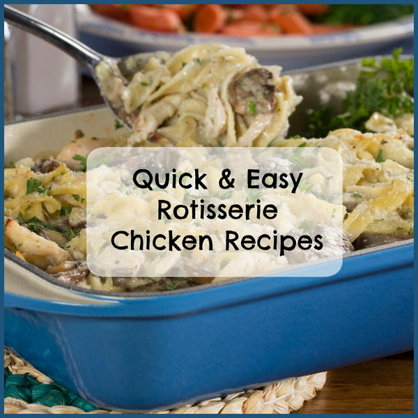 Make the most of a rotisserie bird and use it in these extra-delicious left-over chicken recipes. possibilities to choose from.