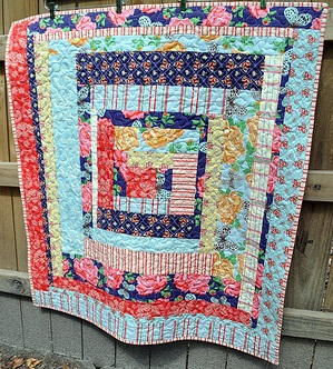 Country Cabin Lap Quilt FaveQuilts.com