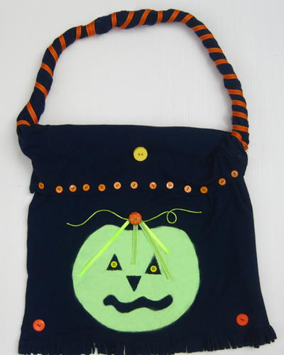 Repurposed T Shirt Into Halloween Treat Bag