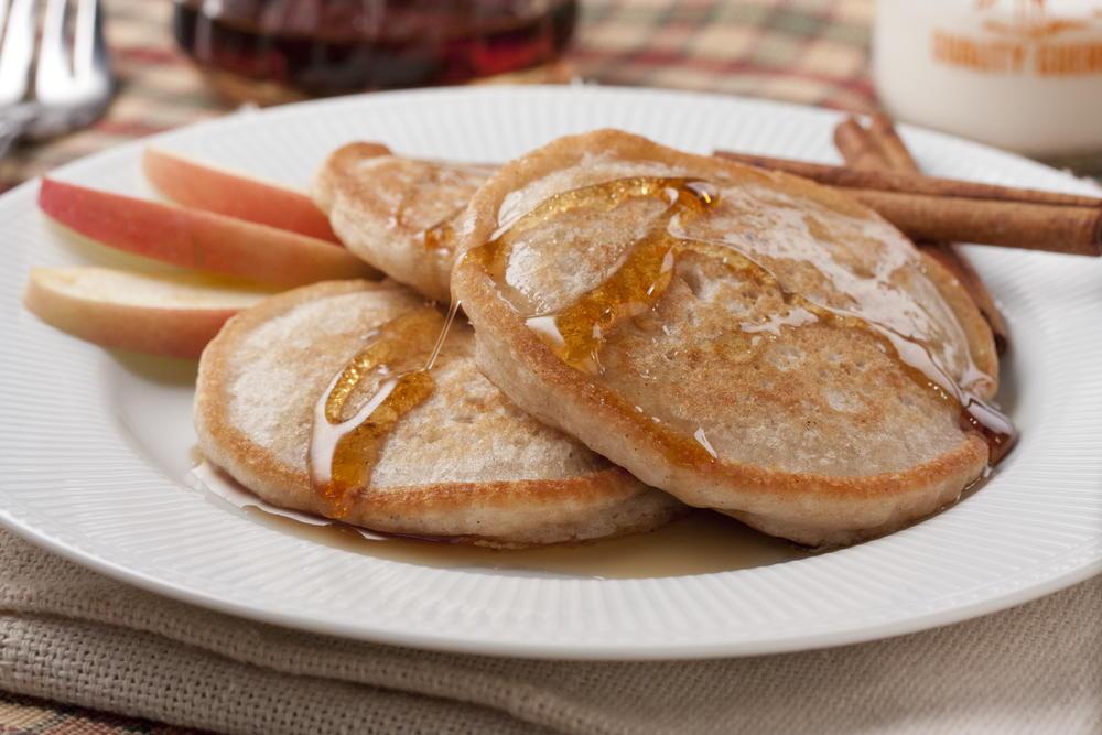 Cinnamon Applesauce Pancakes | MrFood.com