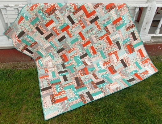 Rolling Rail Fence Quilt Favequilts Com