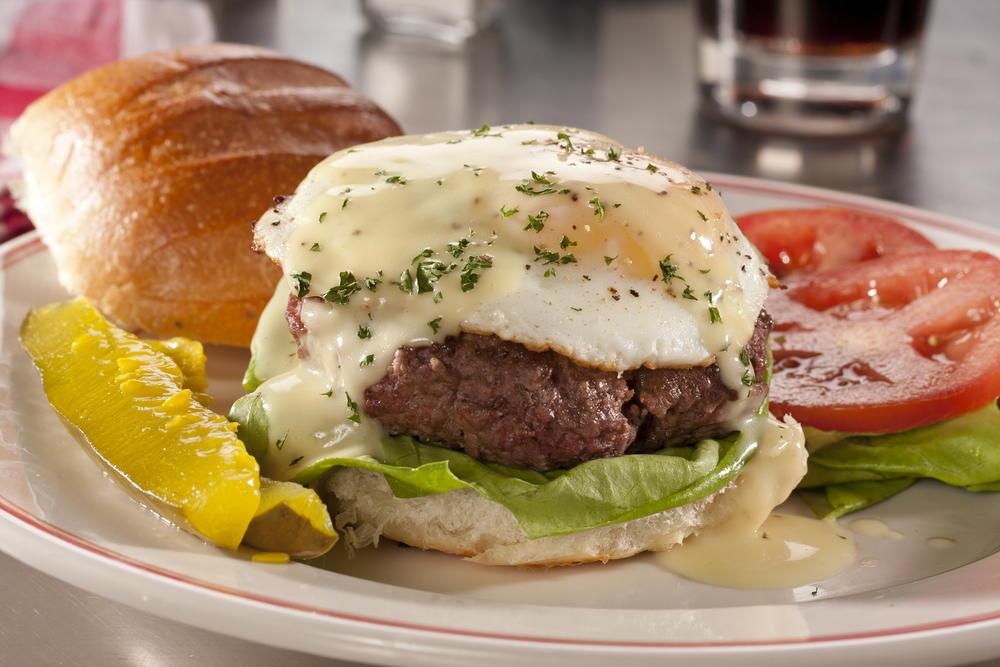 Eggs Benedict Burger   MrFood.com