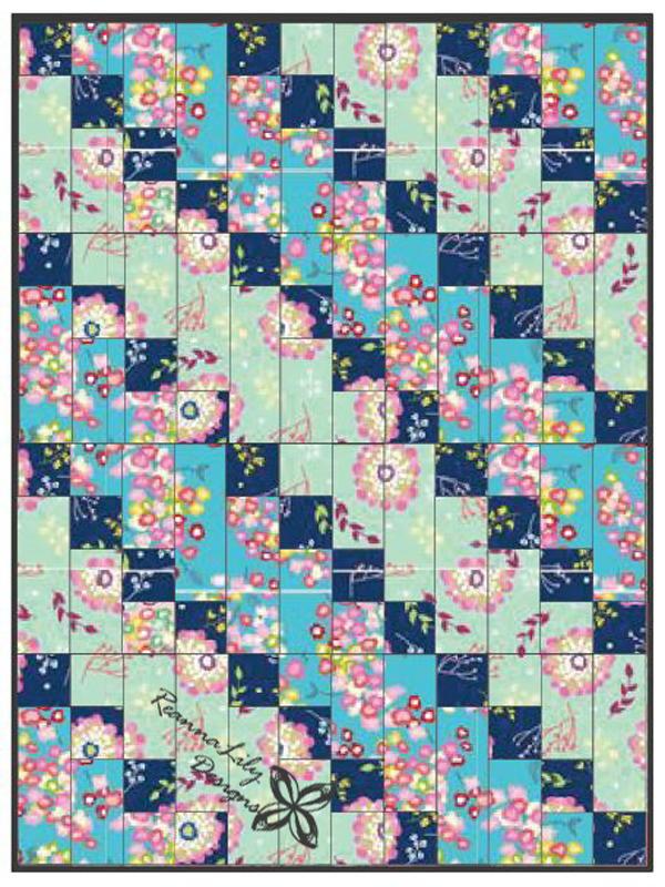 Strip-Pieced Diagonal Beginner Quilt