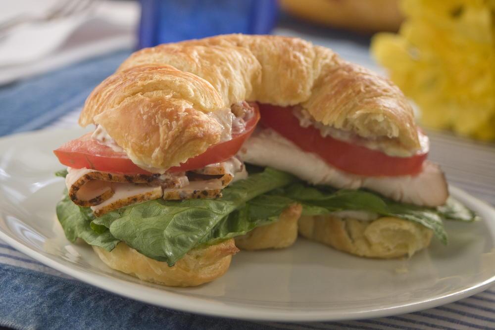 Croissant Club Sandwiches | MrFood.com