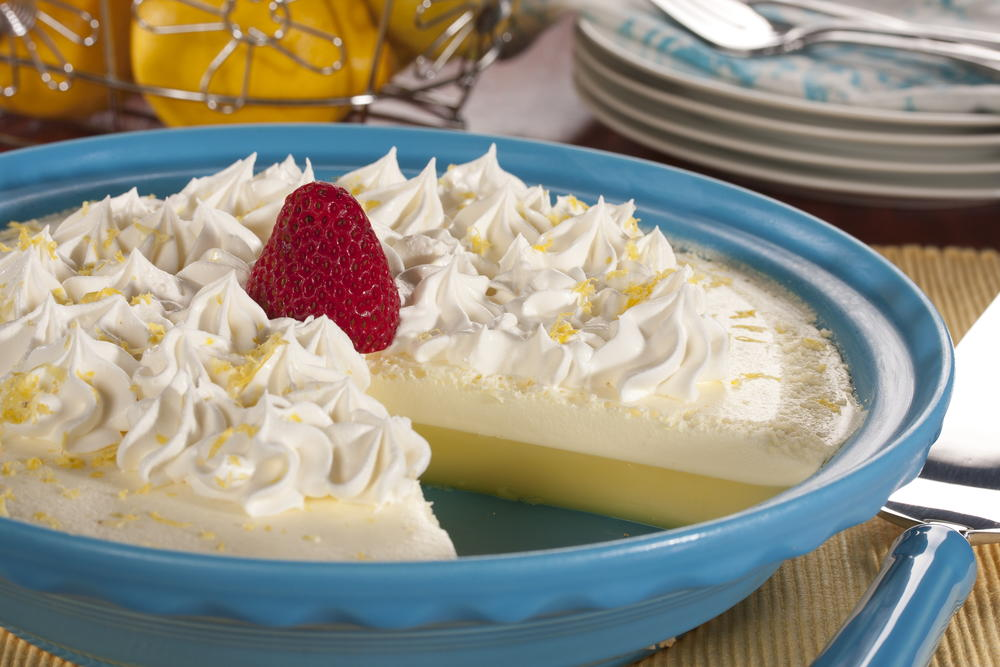 Crustless Lemon Cream Pie | MrFood.com
