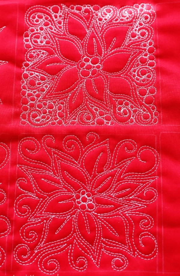 Poinsettia Free Motion Quilt Favequilts Com