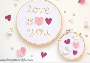 DIY Valentine's Day Hoop Art