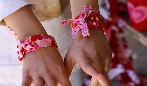 Valentines Day Duct Tape Bracelets