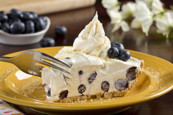 Blueberry Cream Pie blueberry cream pie mrfood.com
