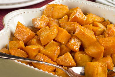 Caramel-Glazed Sweet Potatoes