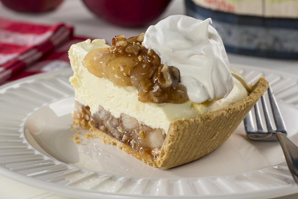 Apple Pecan Cream Pie   MrFood.com