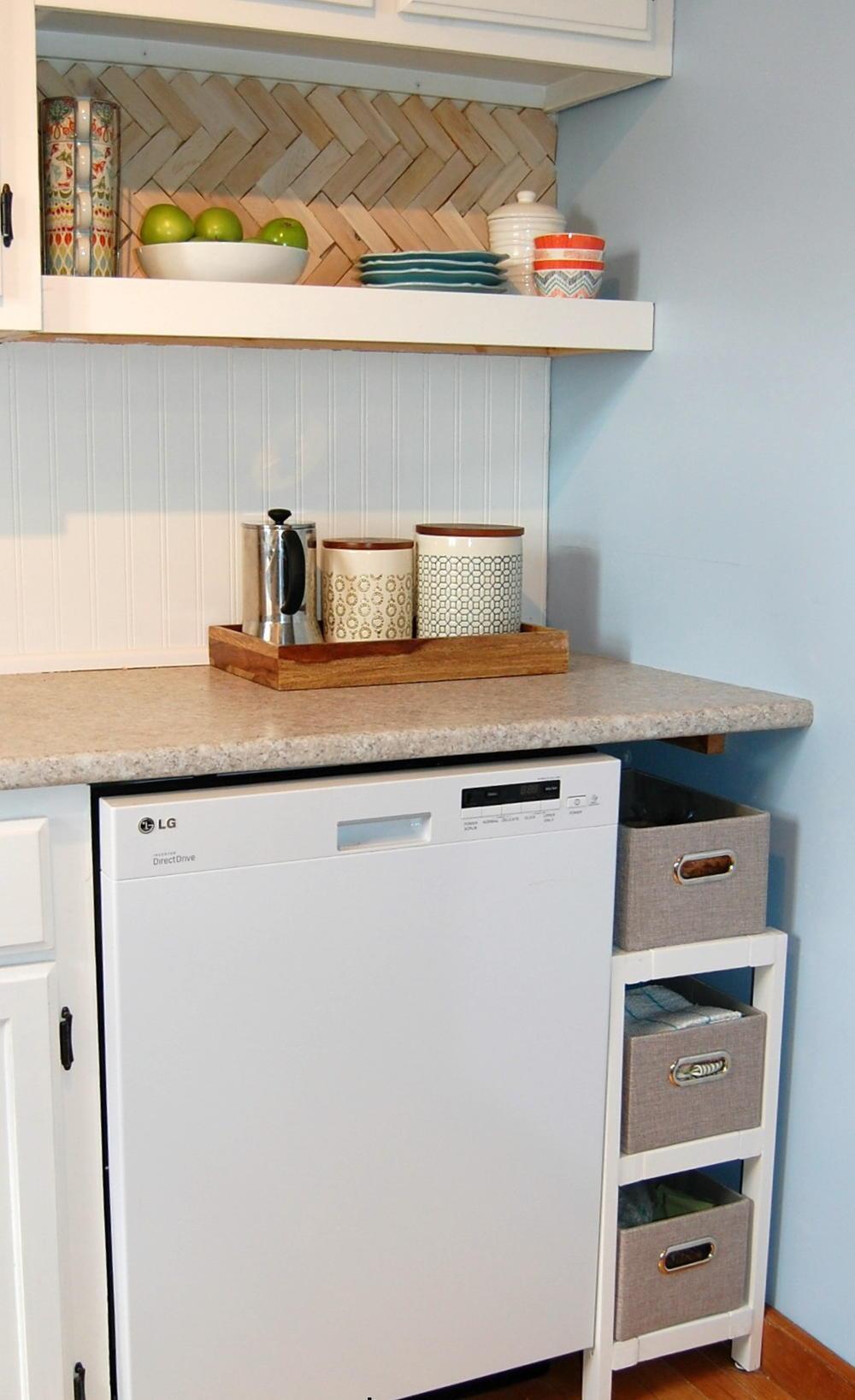 Kitchen solution diy storage shelf for Diy kitchen storage