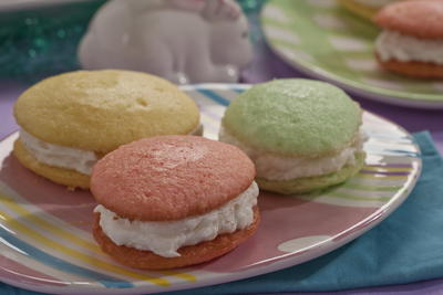 Easter Egg Cream Sandwiches