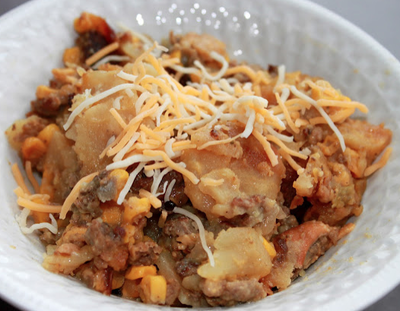 Slow Cooker Hamburger and Potato Bake