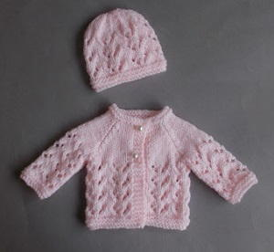 Lace Knit Baby Set AllFreeKnitting.com