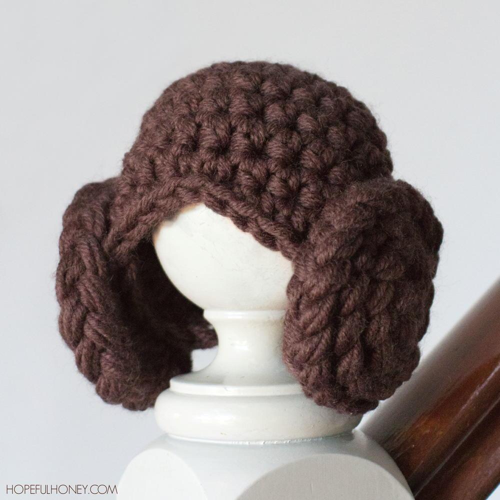 df41772d925 Princess Leia Inspired Crochet Beanie