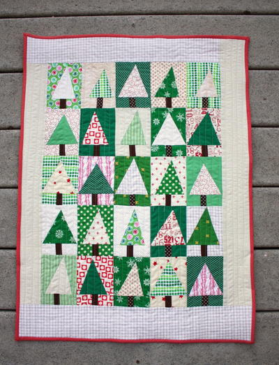 Patchwork Evergreen Quilt