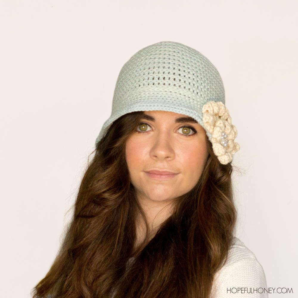 aa97ca063f0a1 Snowflake Crochet Cloche Hat