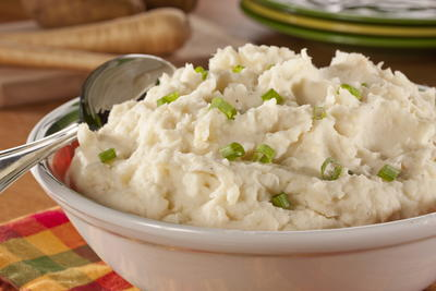 Fast Mashed Potatoes and Parsnips