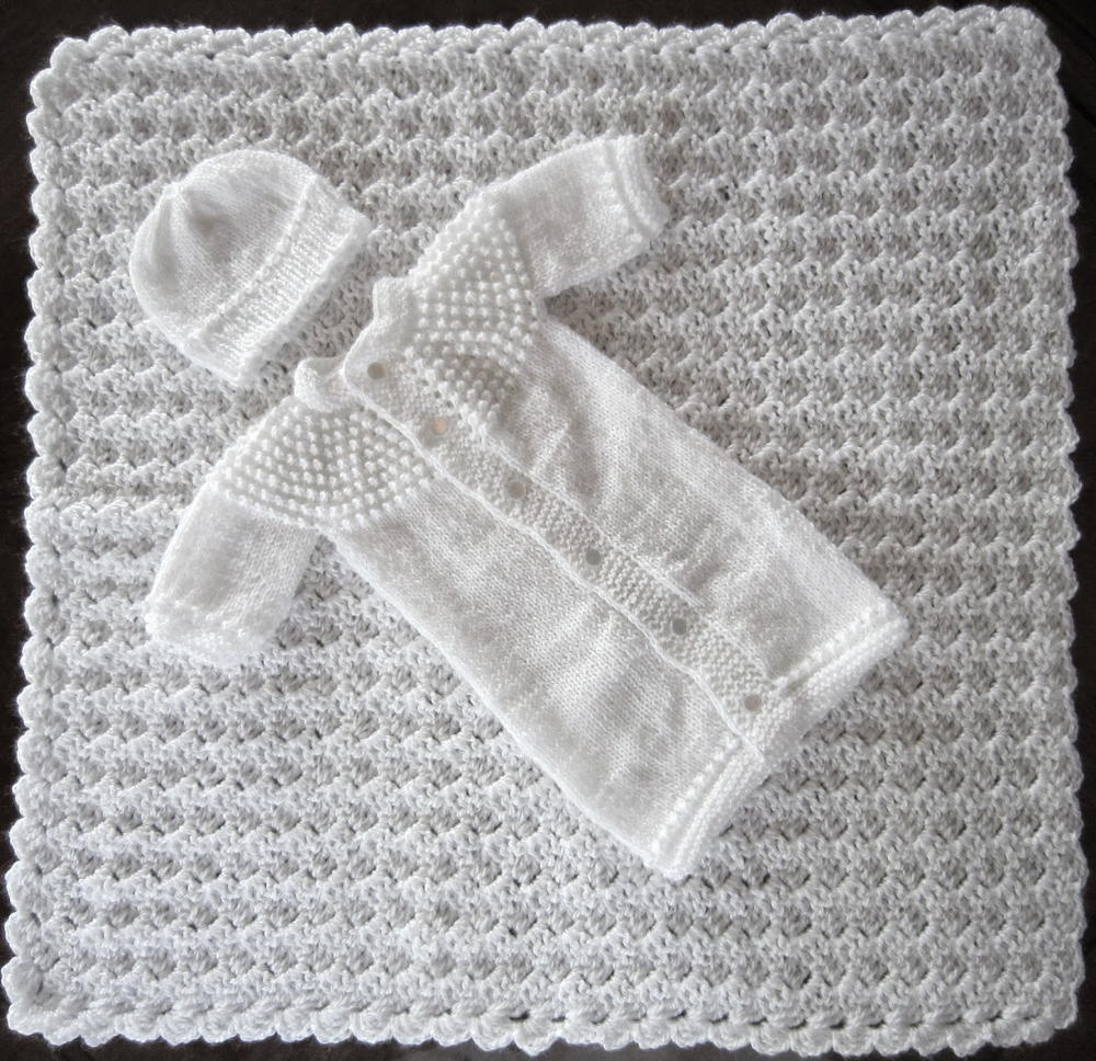 Free Crochet Pattern Baby Sleeping Bag : White Pearl Christening Crochet Blanket ...