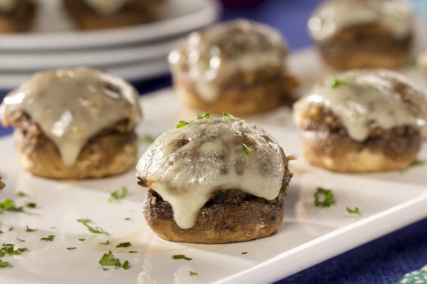 French Onion Stuffed Mushrooms | MrFood.com