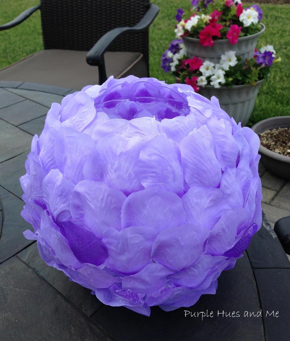 Lilac Rose Petals Luminary