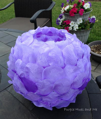 Lilac Rose Petals Luminary