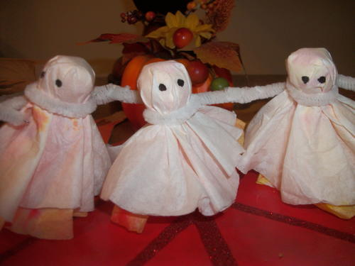 Dancing Tissue Paper Ghosts