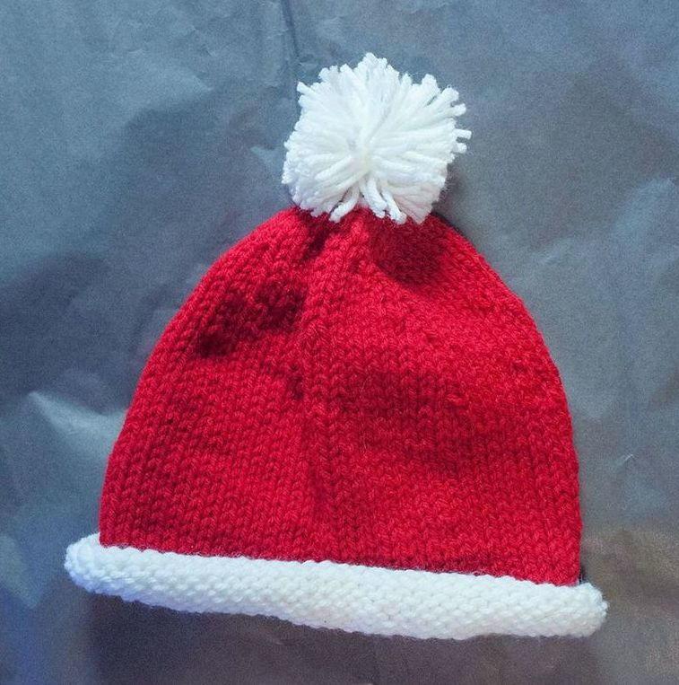 Santa Baby Hat AllFreeKnitting.com