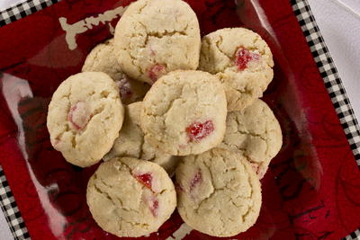 Frosty Cherry Cookies