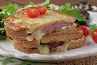 Ham and Cheese Oven French Toast