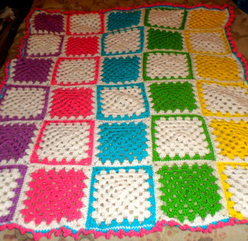 Cuddly Zebra Blanket AllFreeCrochet.com