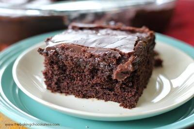 Sinful Triple Chocolate Poke Cake