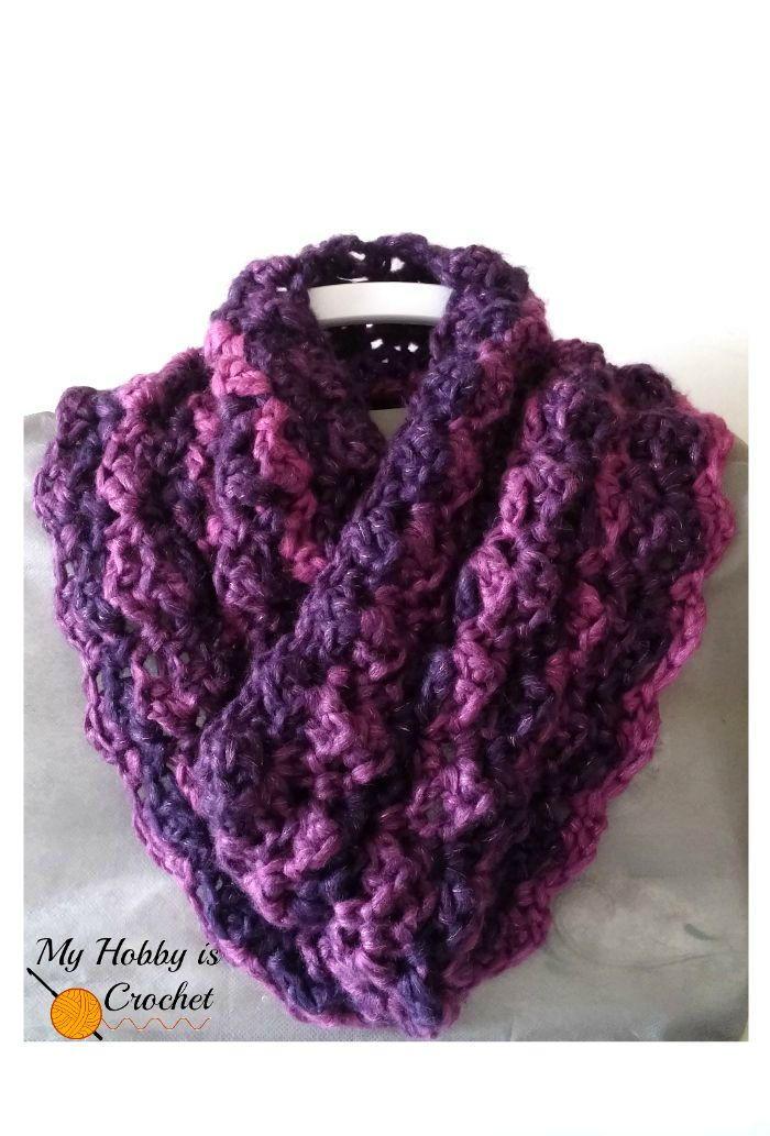 Purple Paris Cowl Allfreecrochet Com