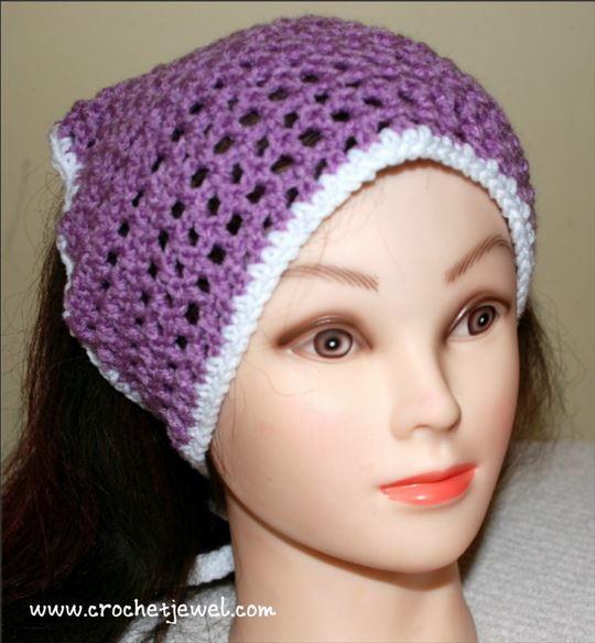 Free Crochet Pattern For Head Scarf : Crochet Head Scarf Pattern AllFreeCrochet.com