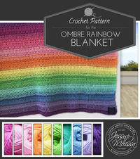 Ombre Rainbow Blanket Crochet Pattern