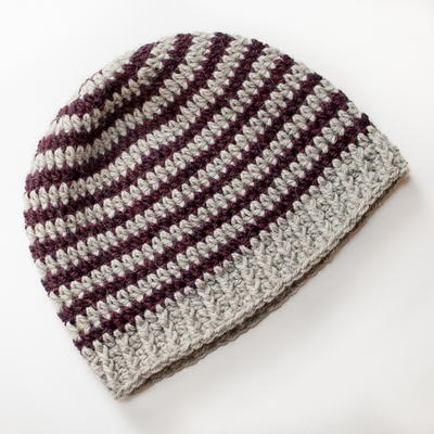 Basic Striped Crochet Hat Pattern AllFreeCrochet.com