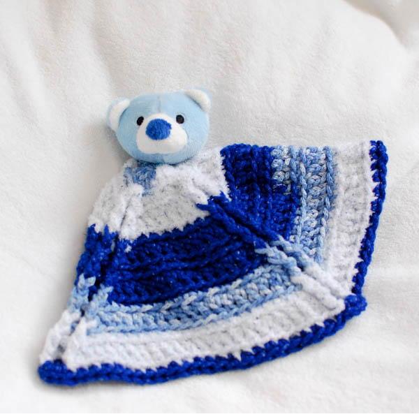 Bear Crochet Lovey Blanket Allfreecrochet Com